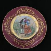 Декоративная тарелка.Деколь с дорисовкой.Вена