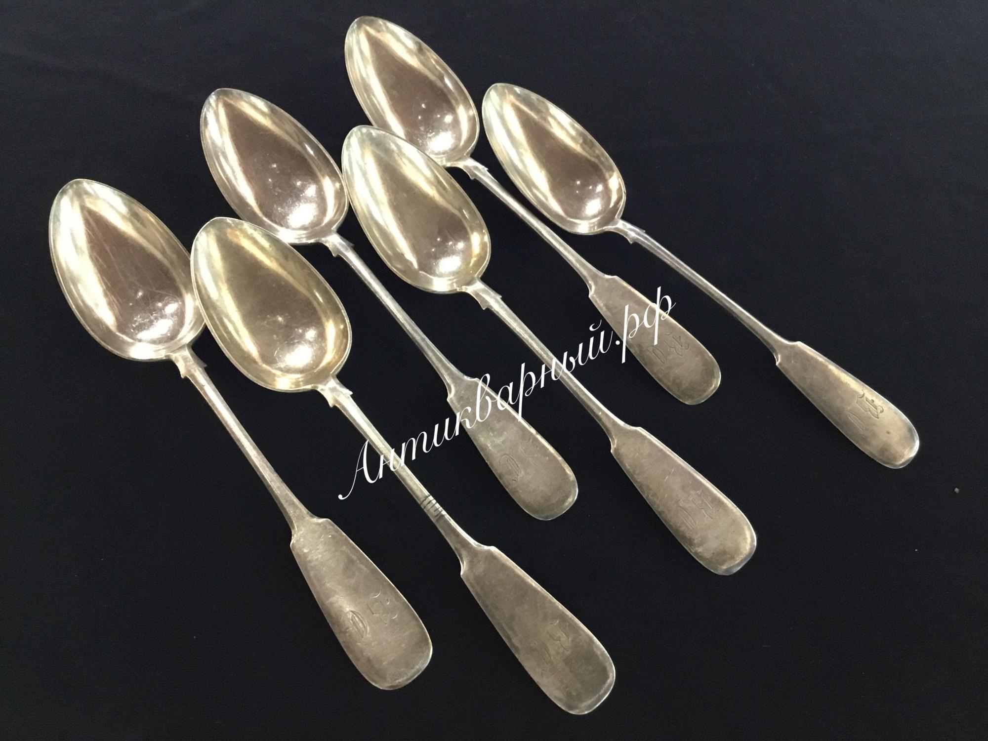 Серебряные столовые ложки 84пробы