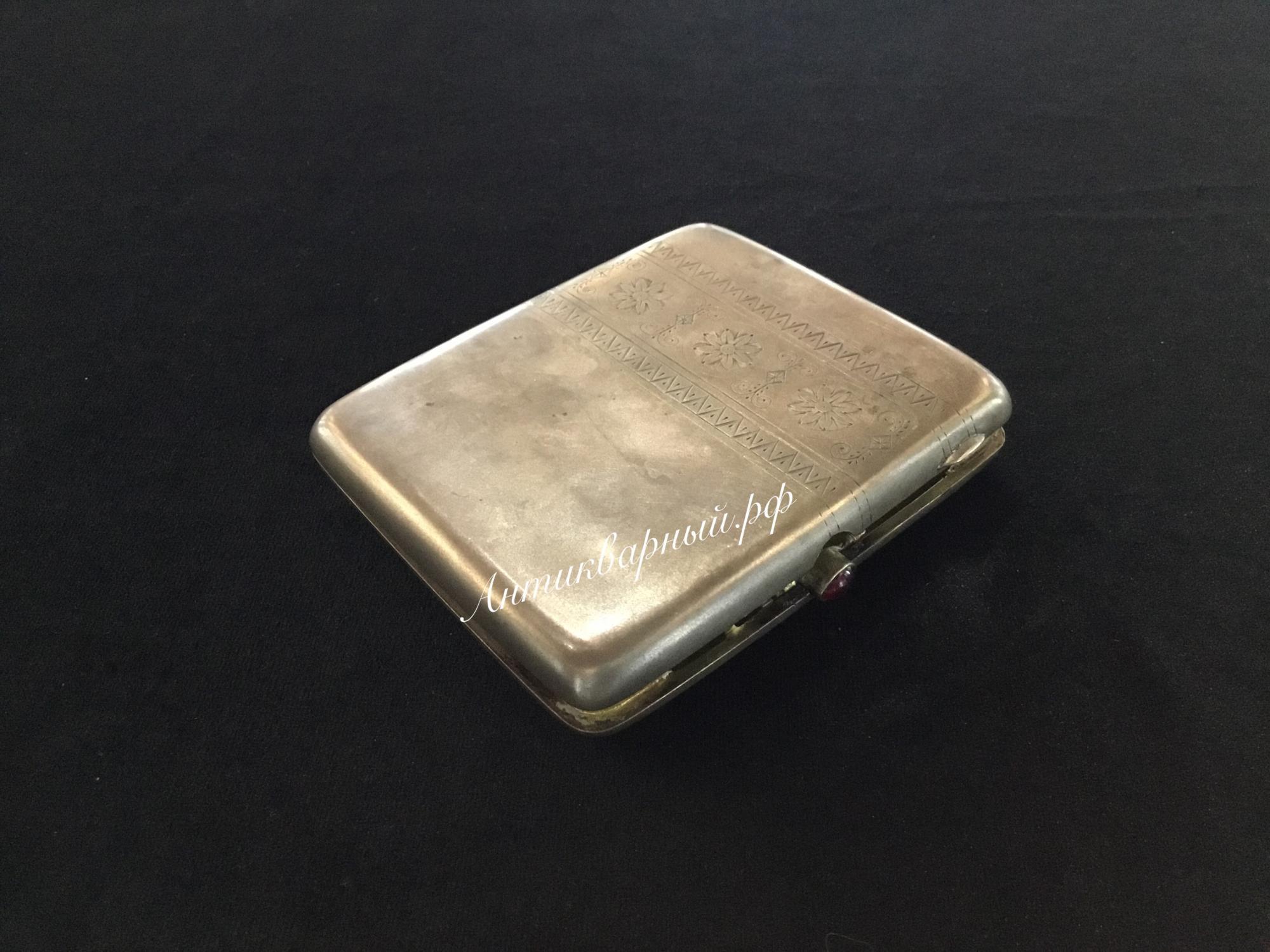Серебряный портсигар 875проба