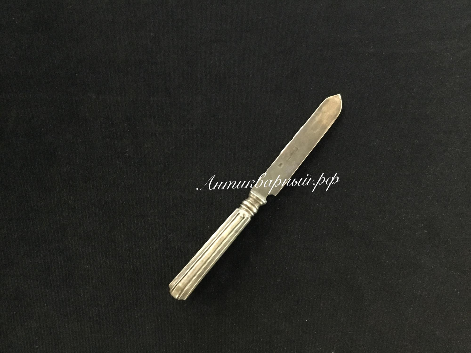 Ножик полностью из серебра 84пробы для фруктов