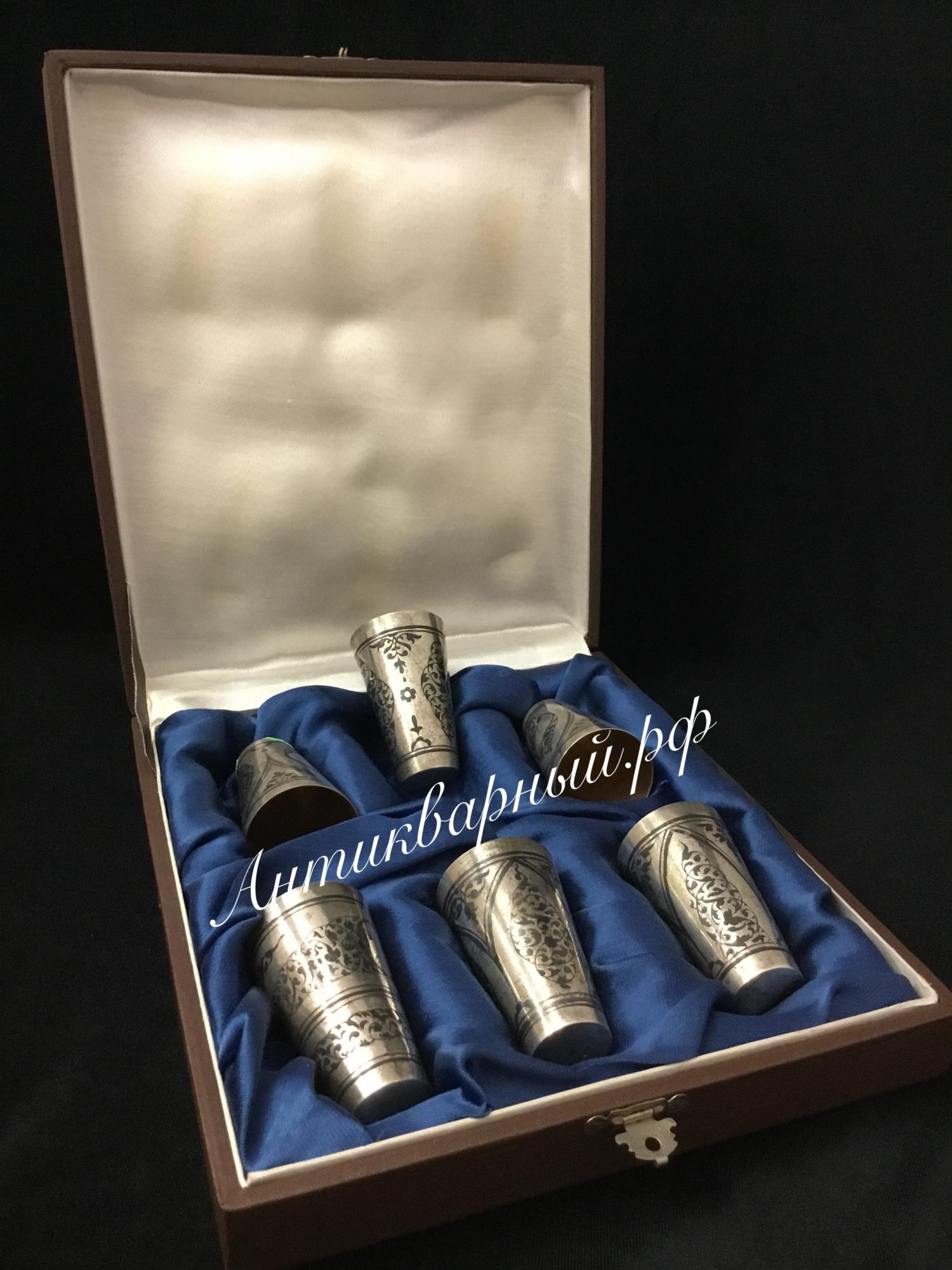 Набор серебряных стопок 875 проба