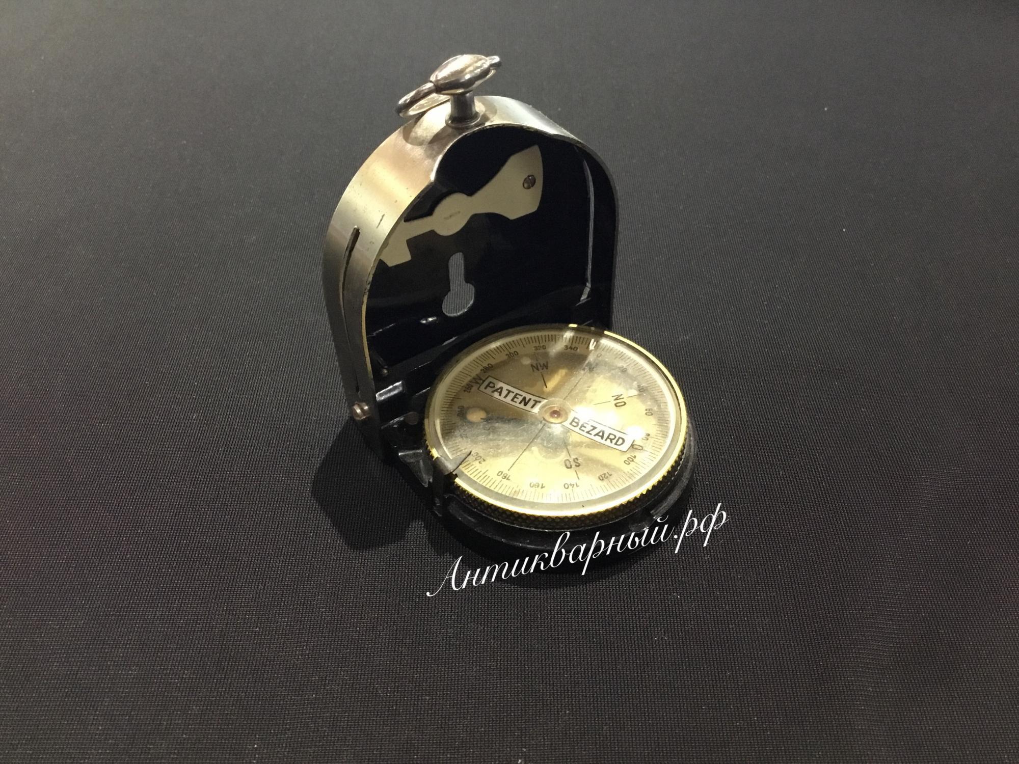 Старинный компас Patent Bezard