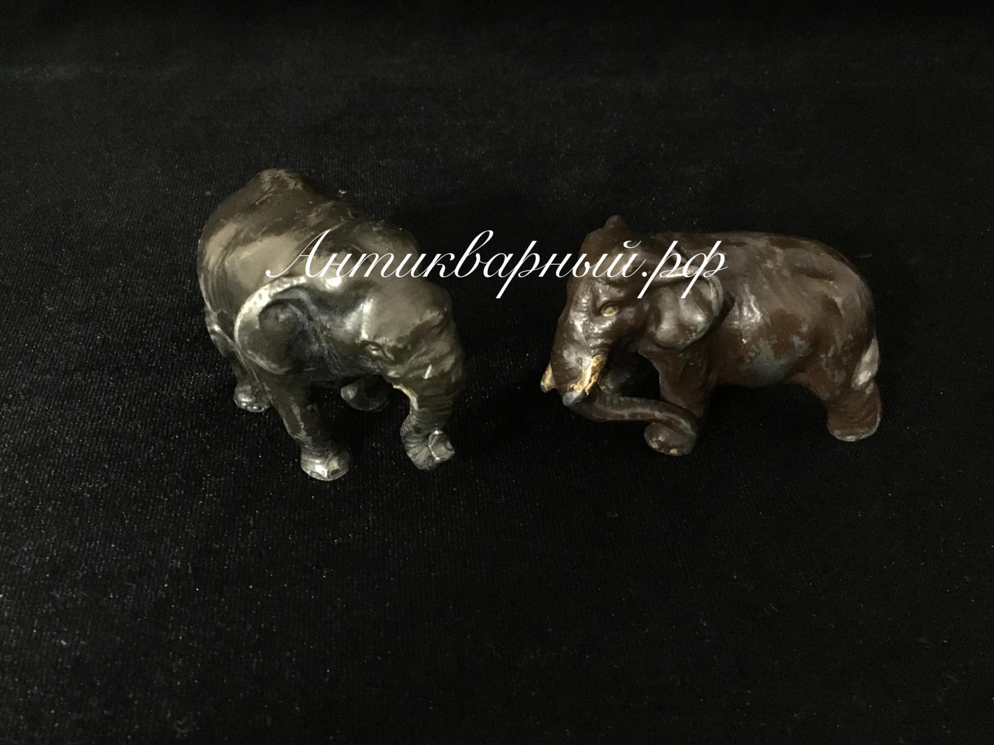 Два слоника.Силумин