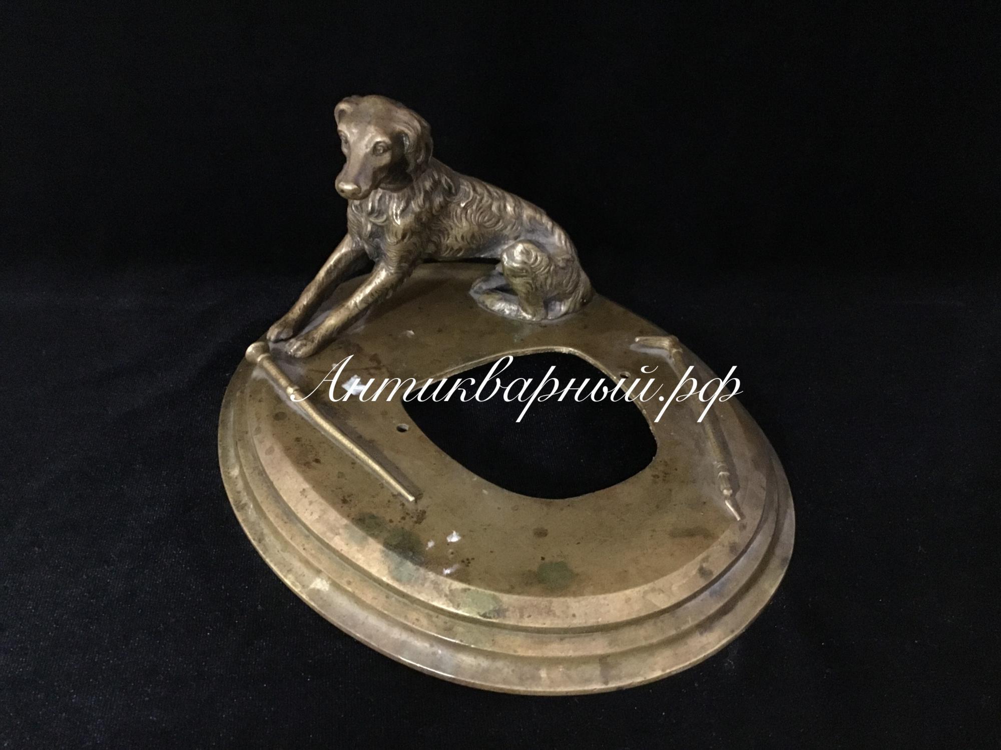 Бронзовая деталь от чернильного набора Собака