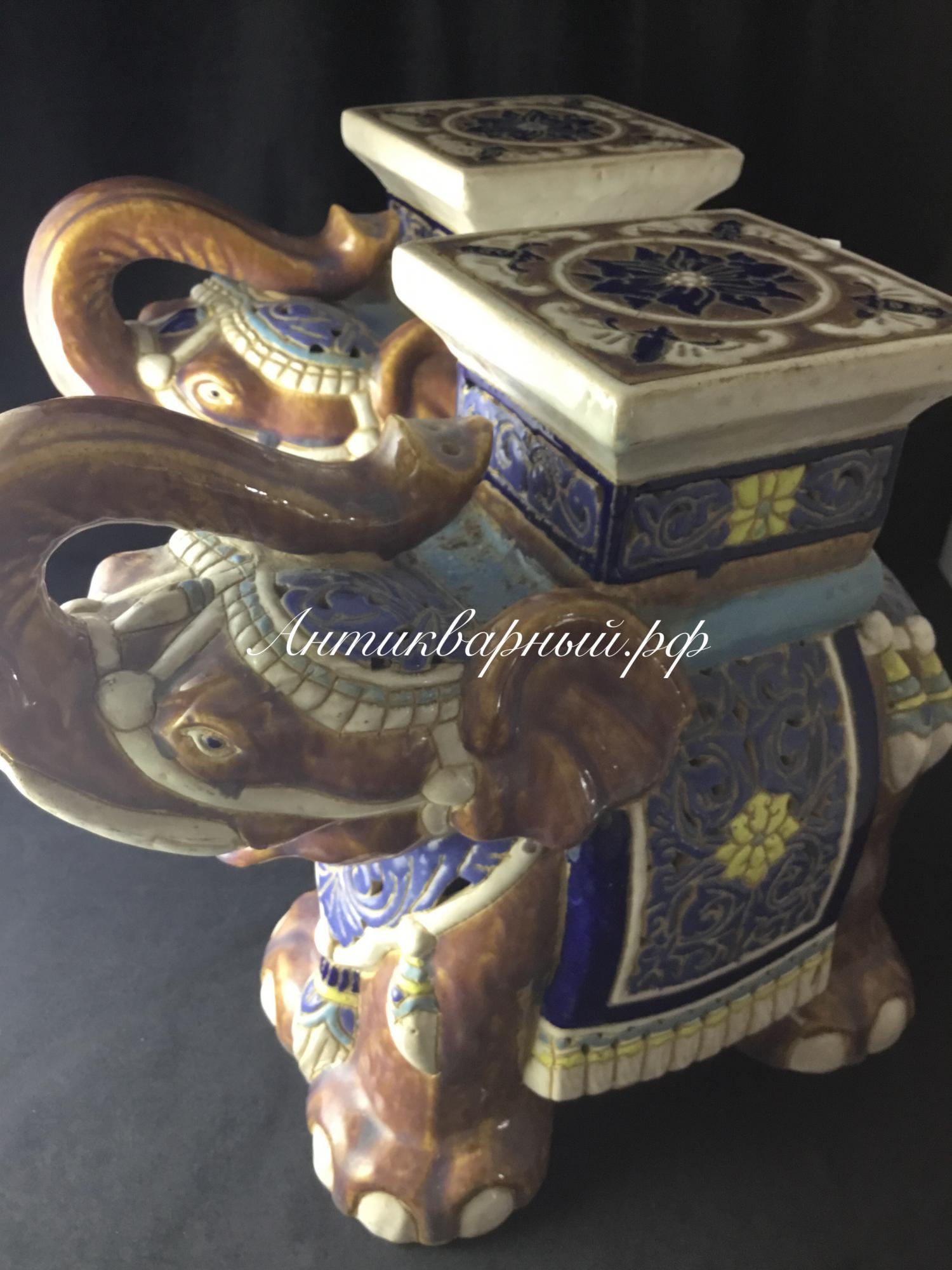 Керамические парные подставки Слоны