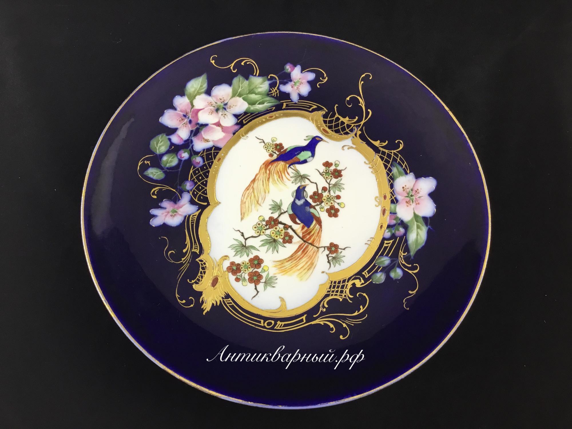 Декоративная тарелка, настенное блюдо Павлины. Медведева Н.