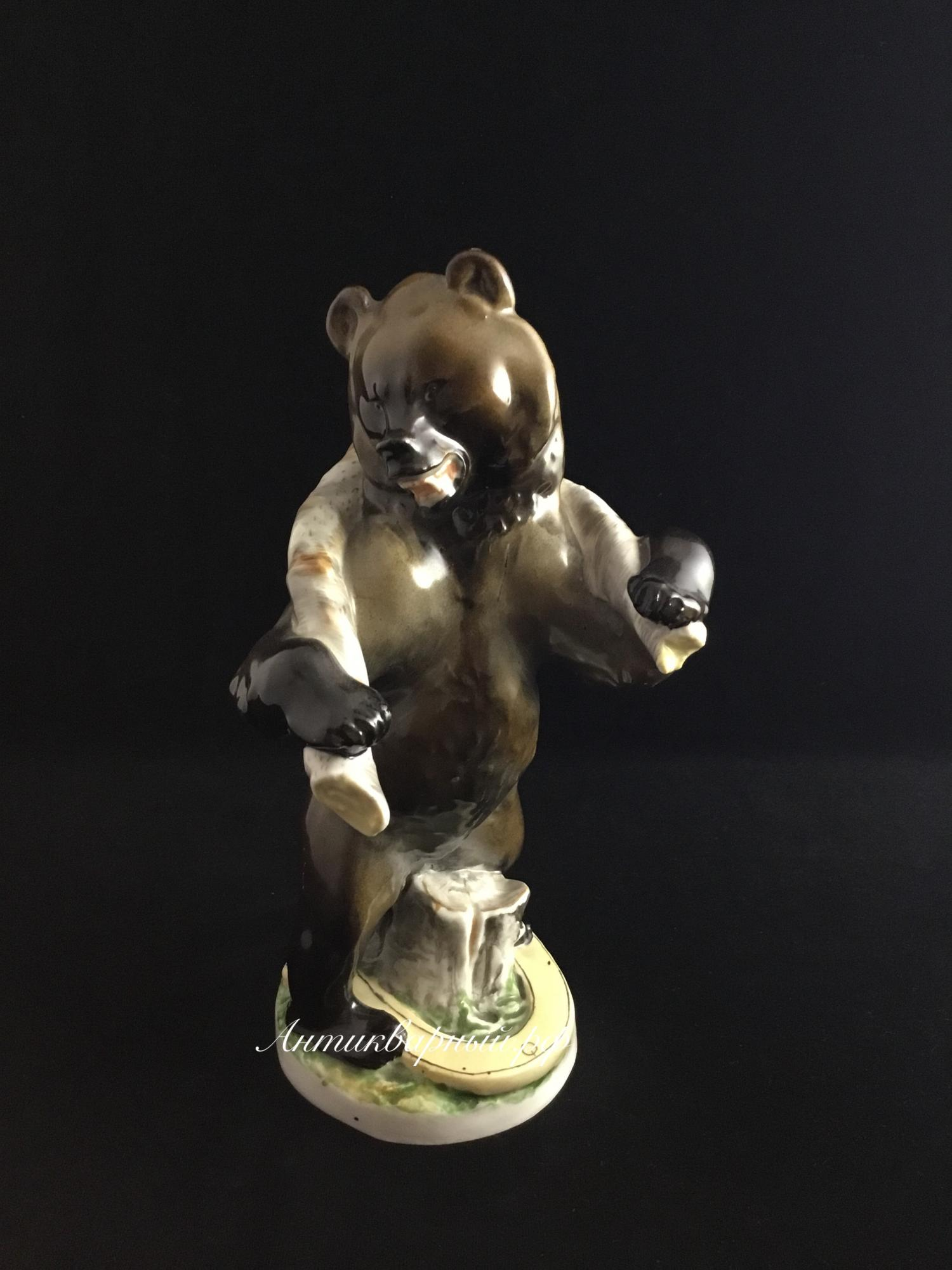 Статуэтка Трудолюбивый Медведь.ЛФЗ