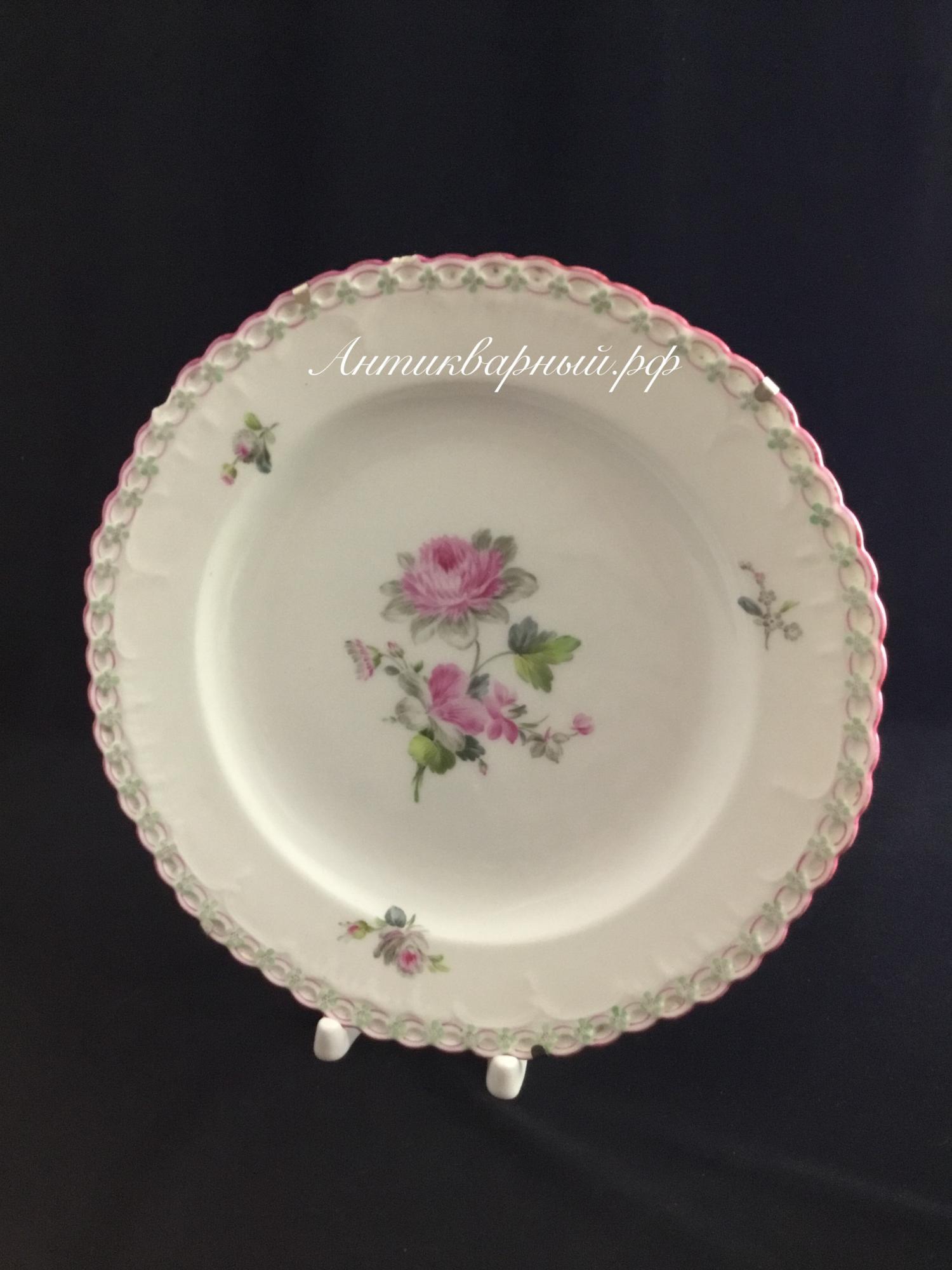 Настенная фарфоровая тарелка с росписью.KPM