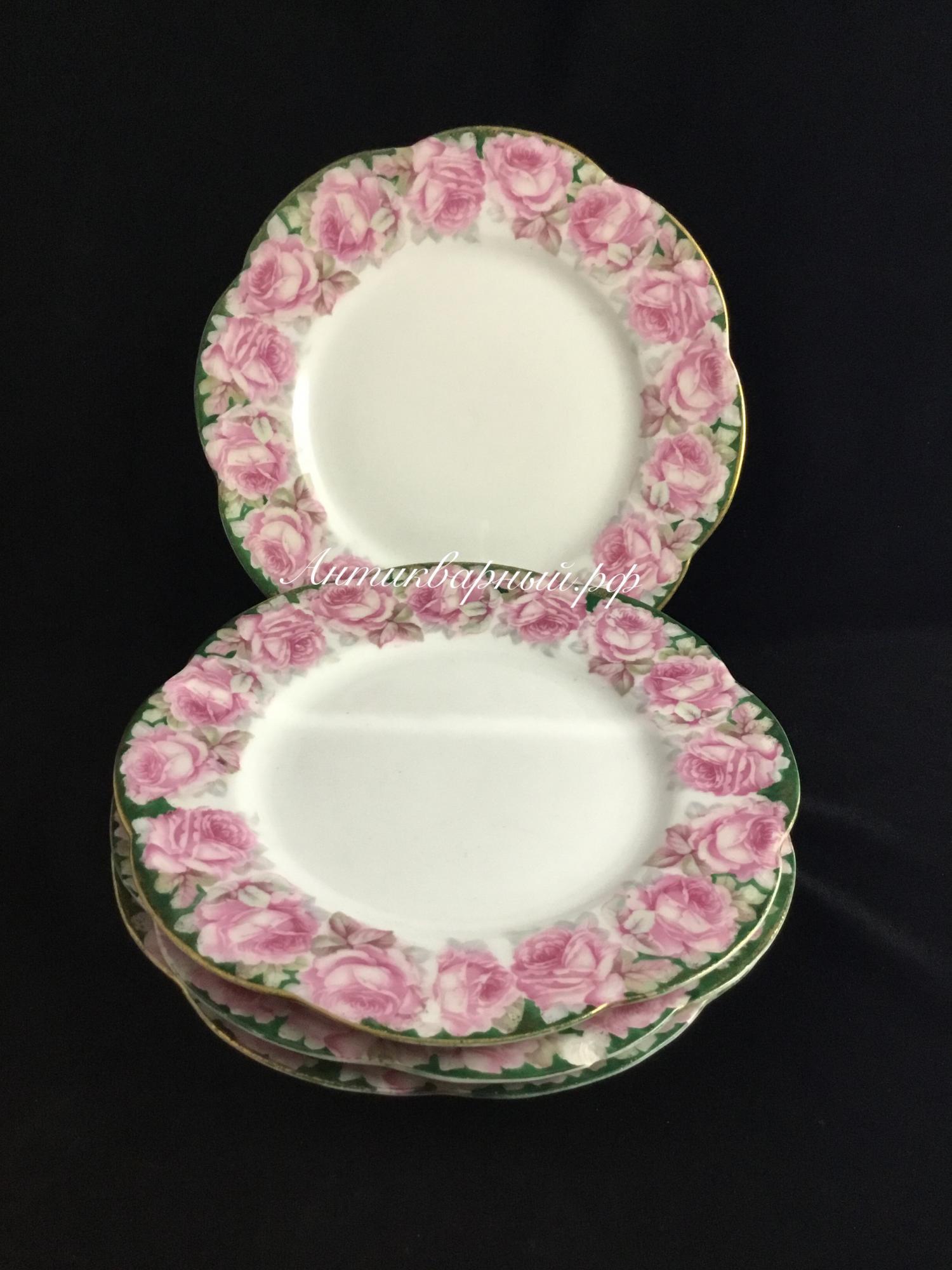 Тарелки десертные Розы.Comte Harrach