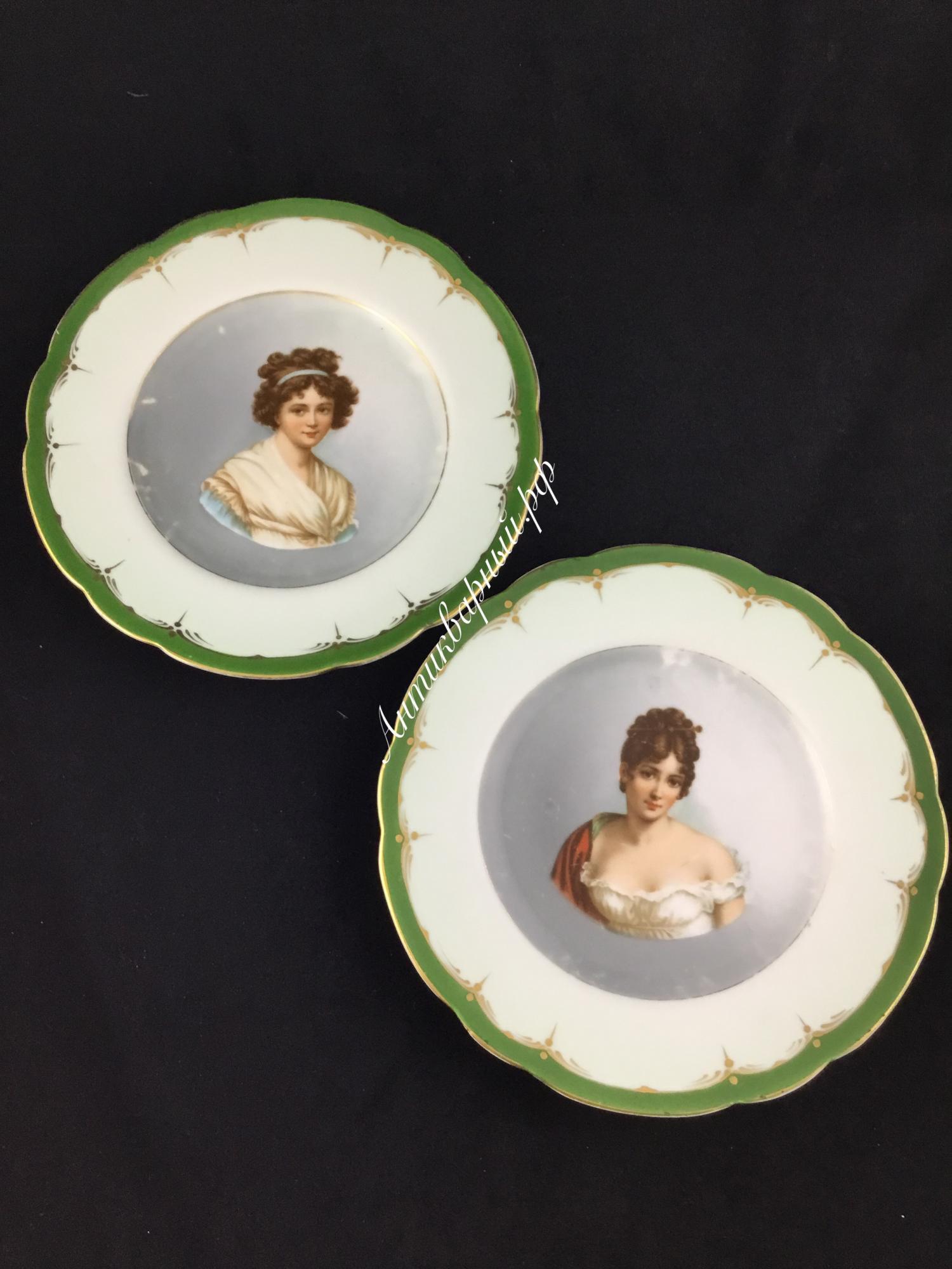 Парные декоративные тарелки с портретами.Кузнецов