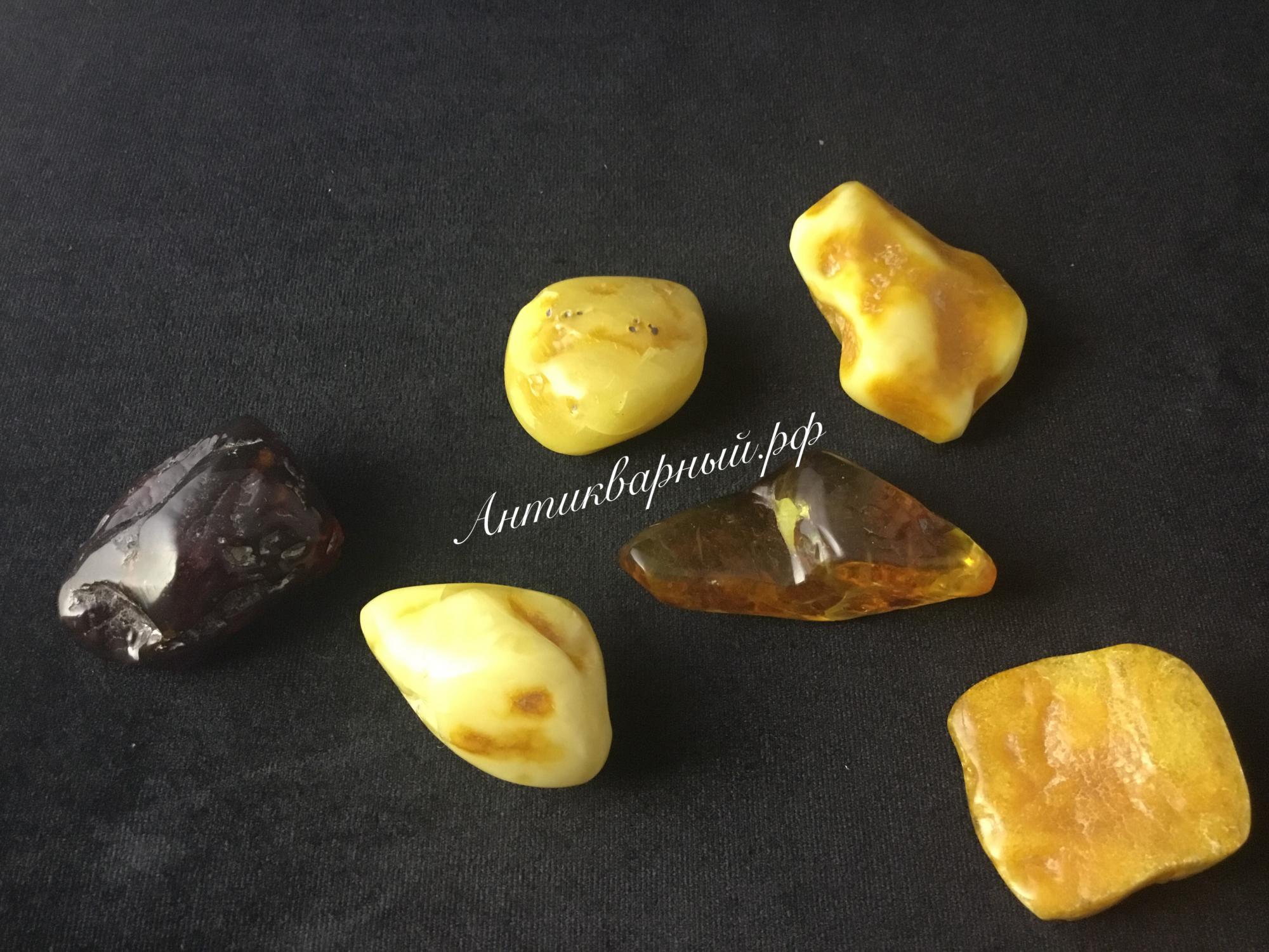 Янтарные камни в коллекцию