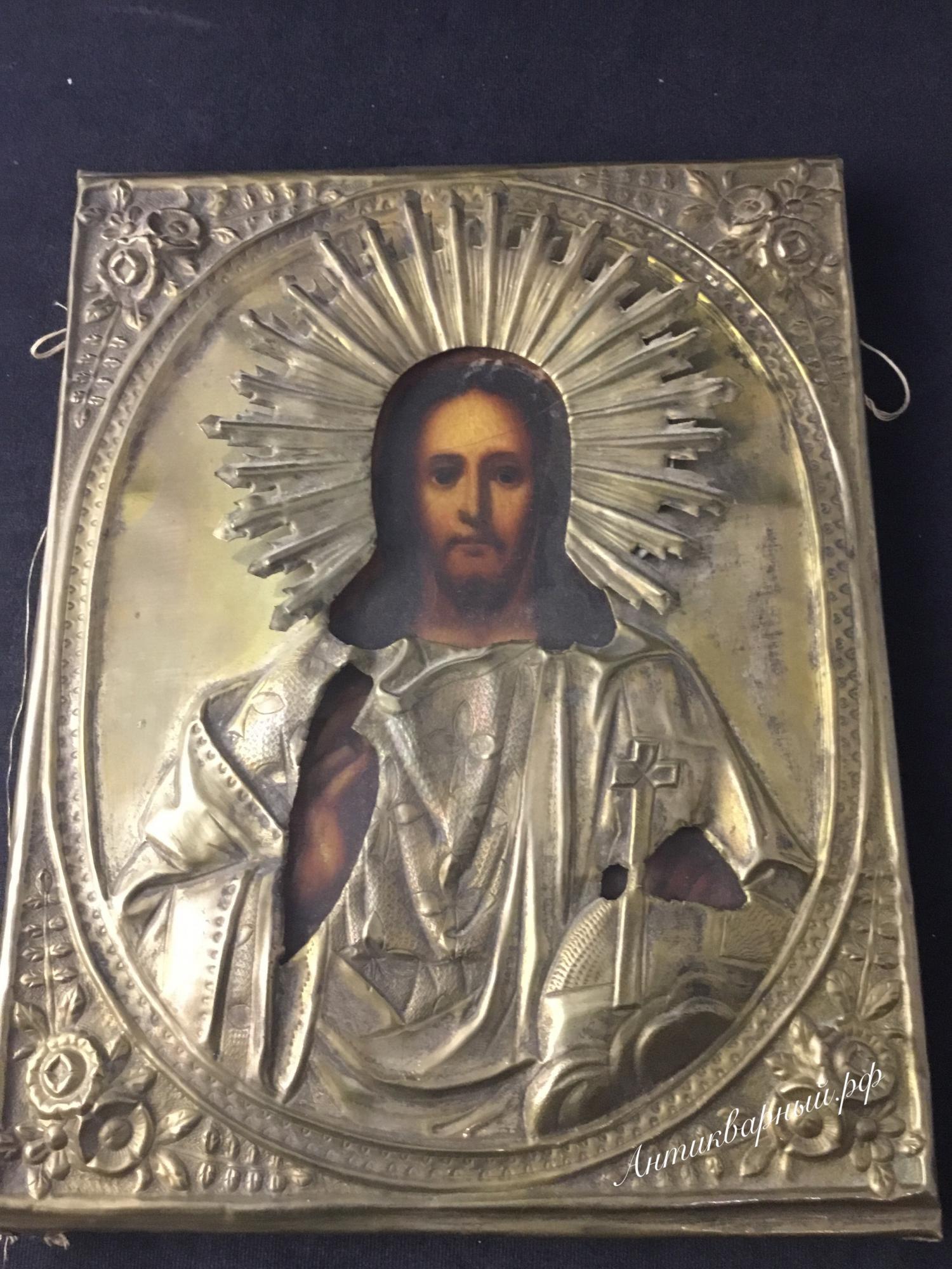 Икона Иисус в окладе