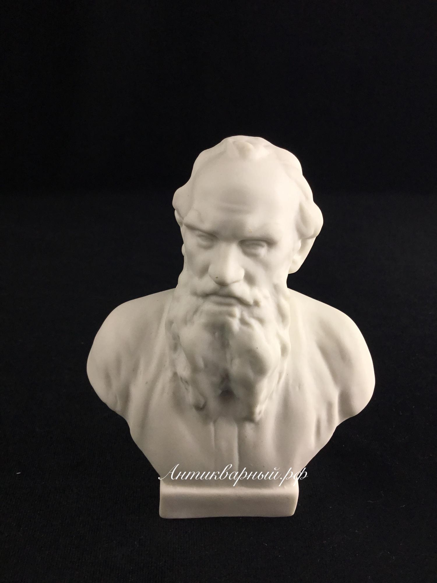 Бюст Толстой.Бисквитный фарфор