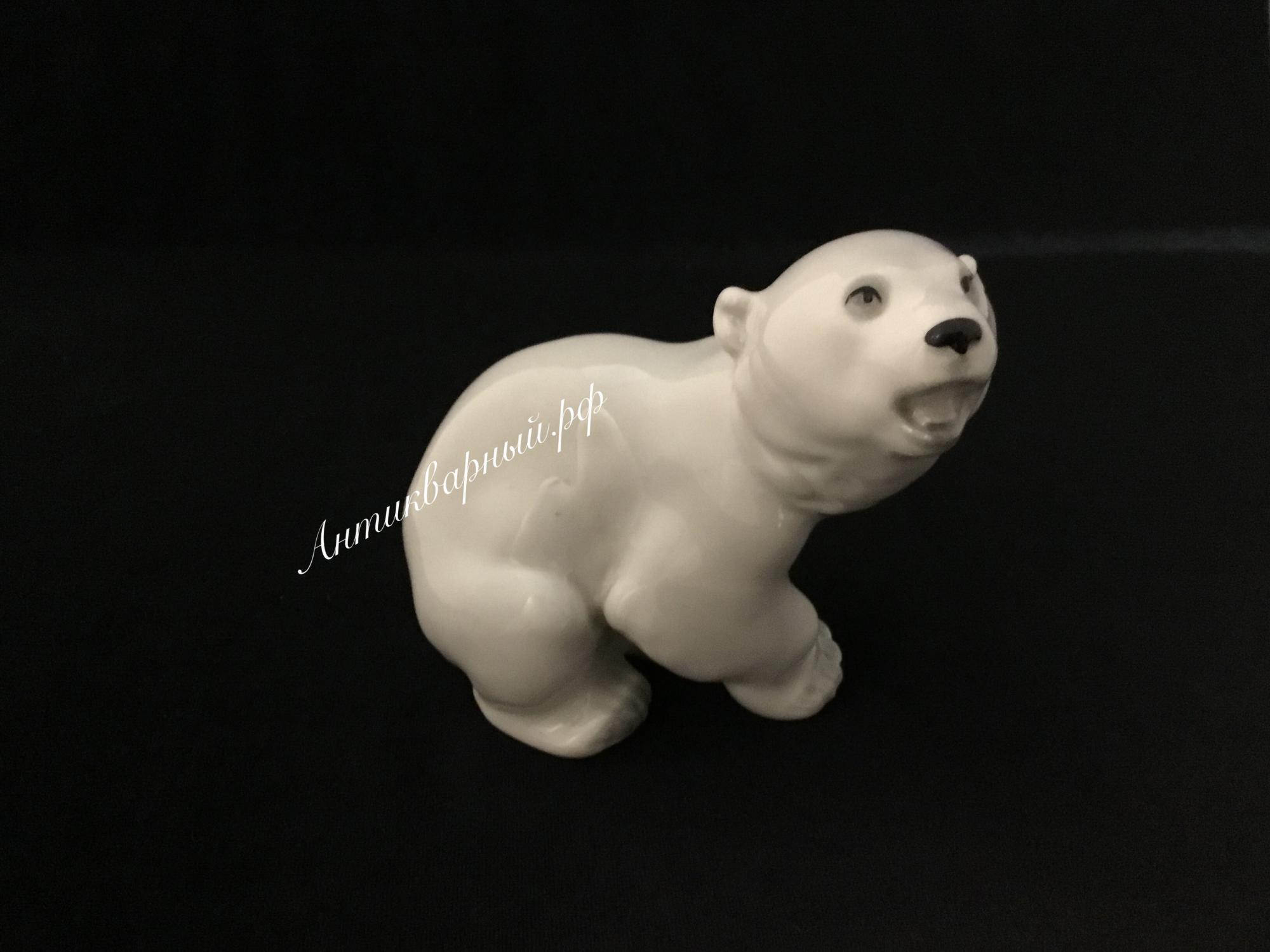Статуэтка Белый медведь ЛФЗ