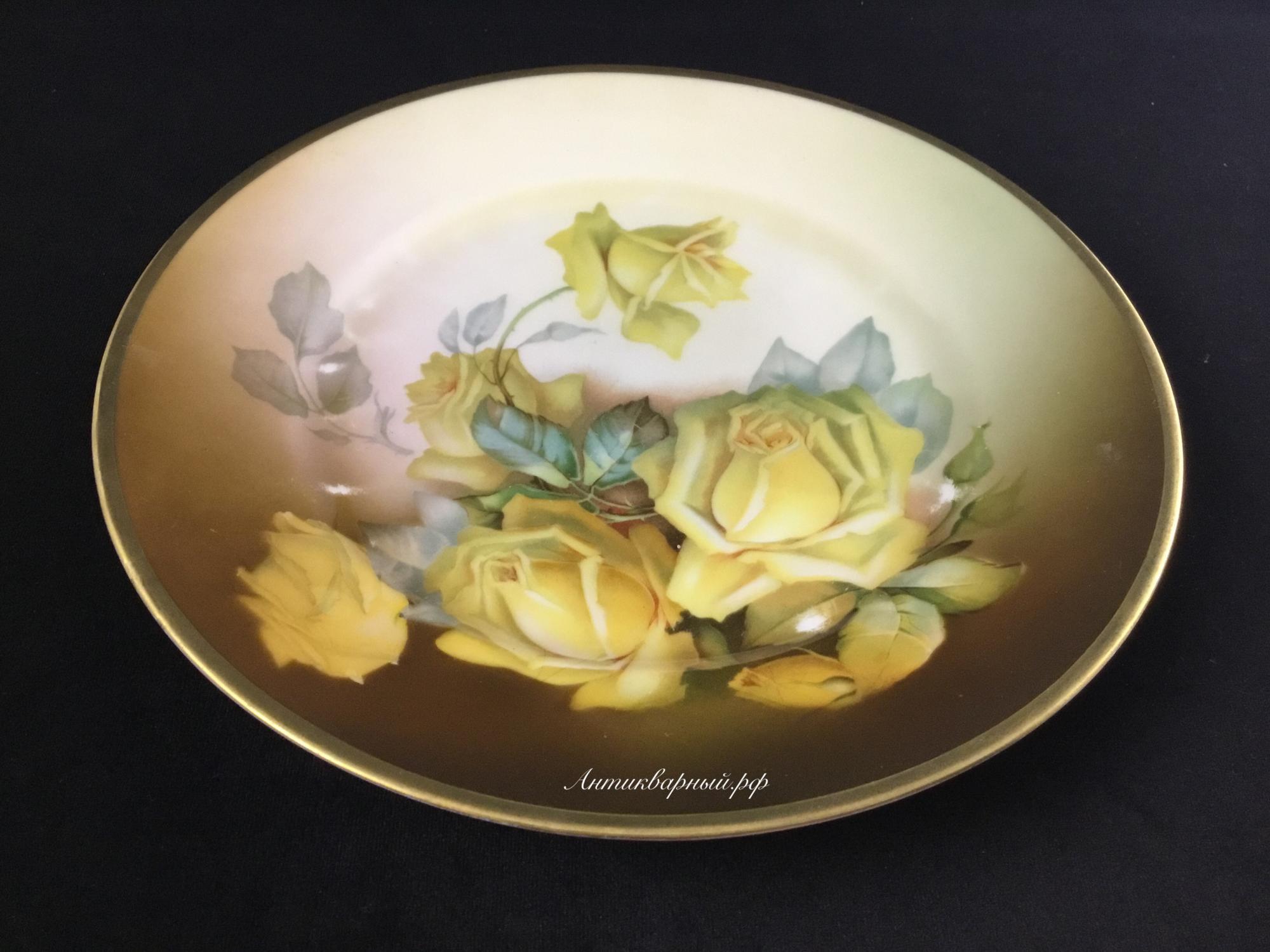 Тарелка декоративная Желтые Цветы.Бавария