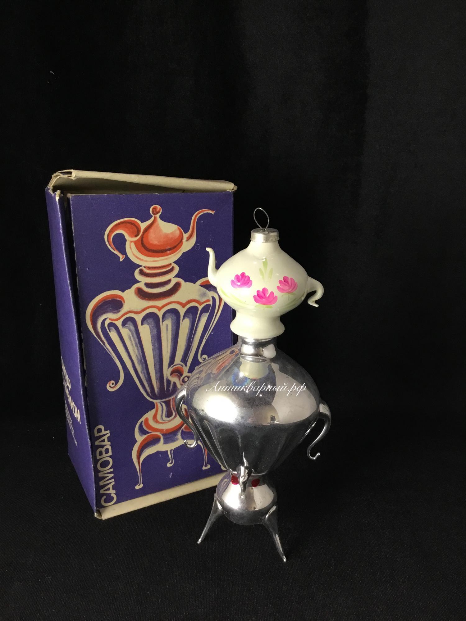 Елочная игрушка Самовар с чайником