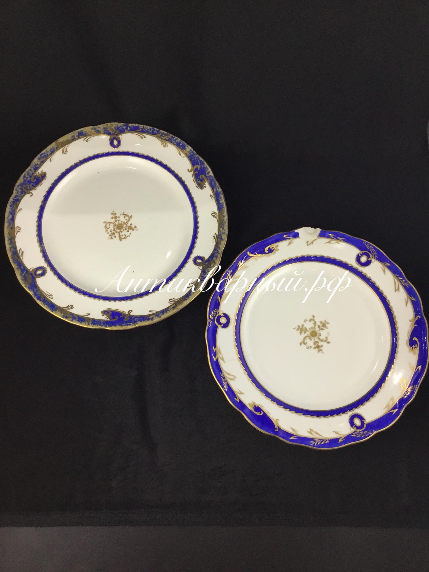 Две старинные тарелки. Братьев Корниловыхъ.