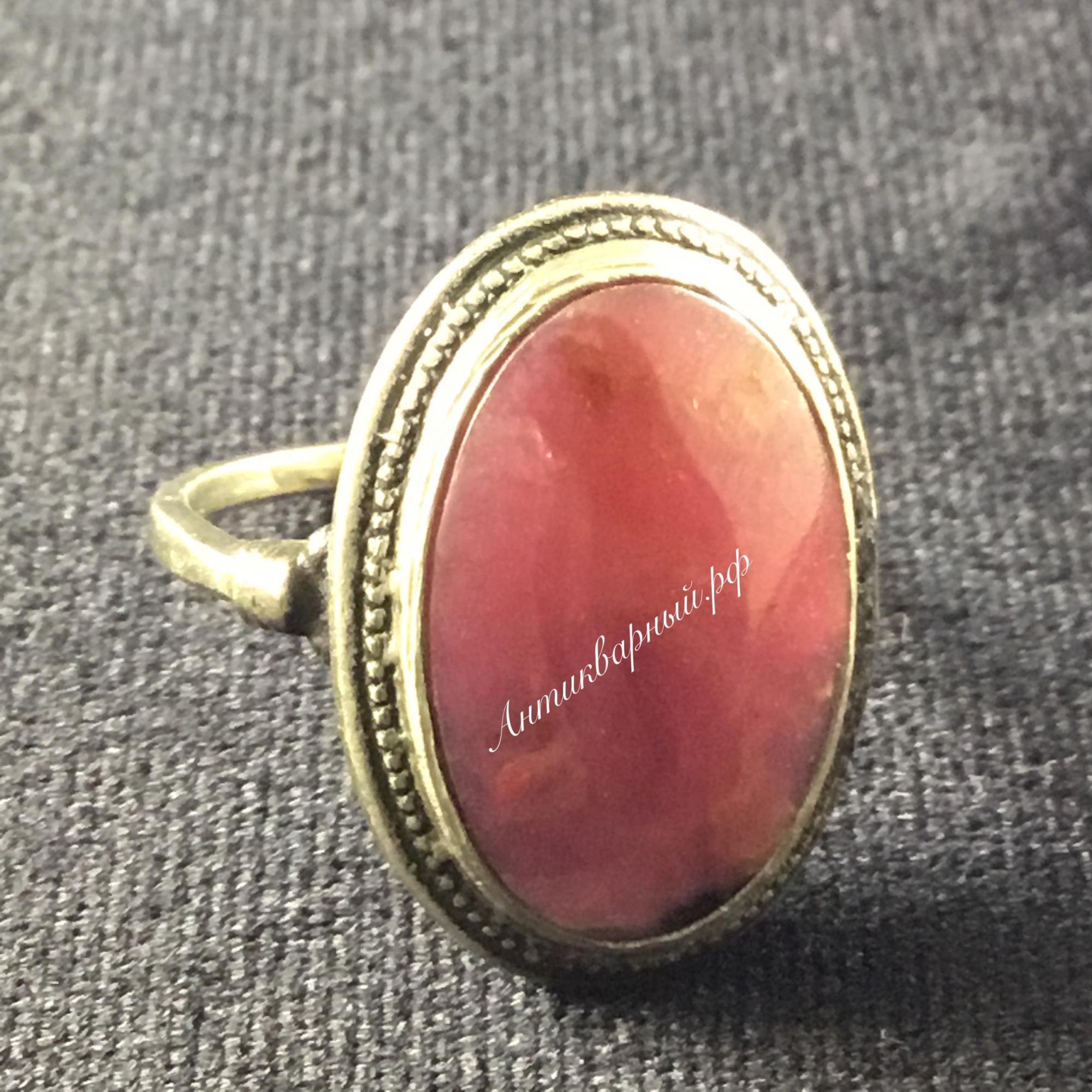 Кольцо с родонитом