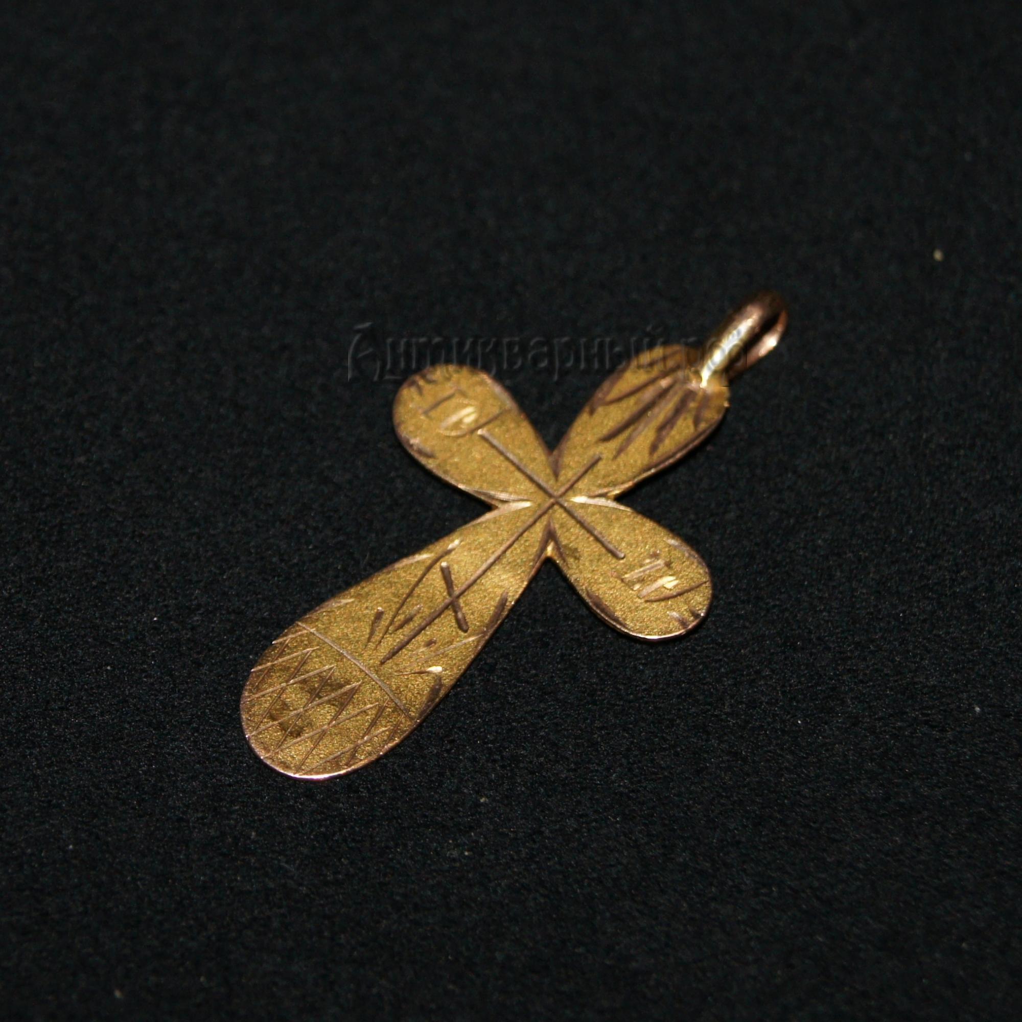 крест золотой старинный