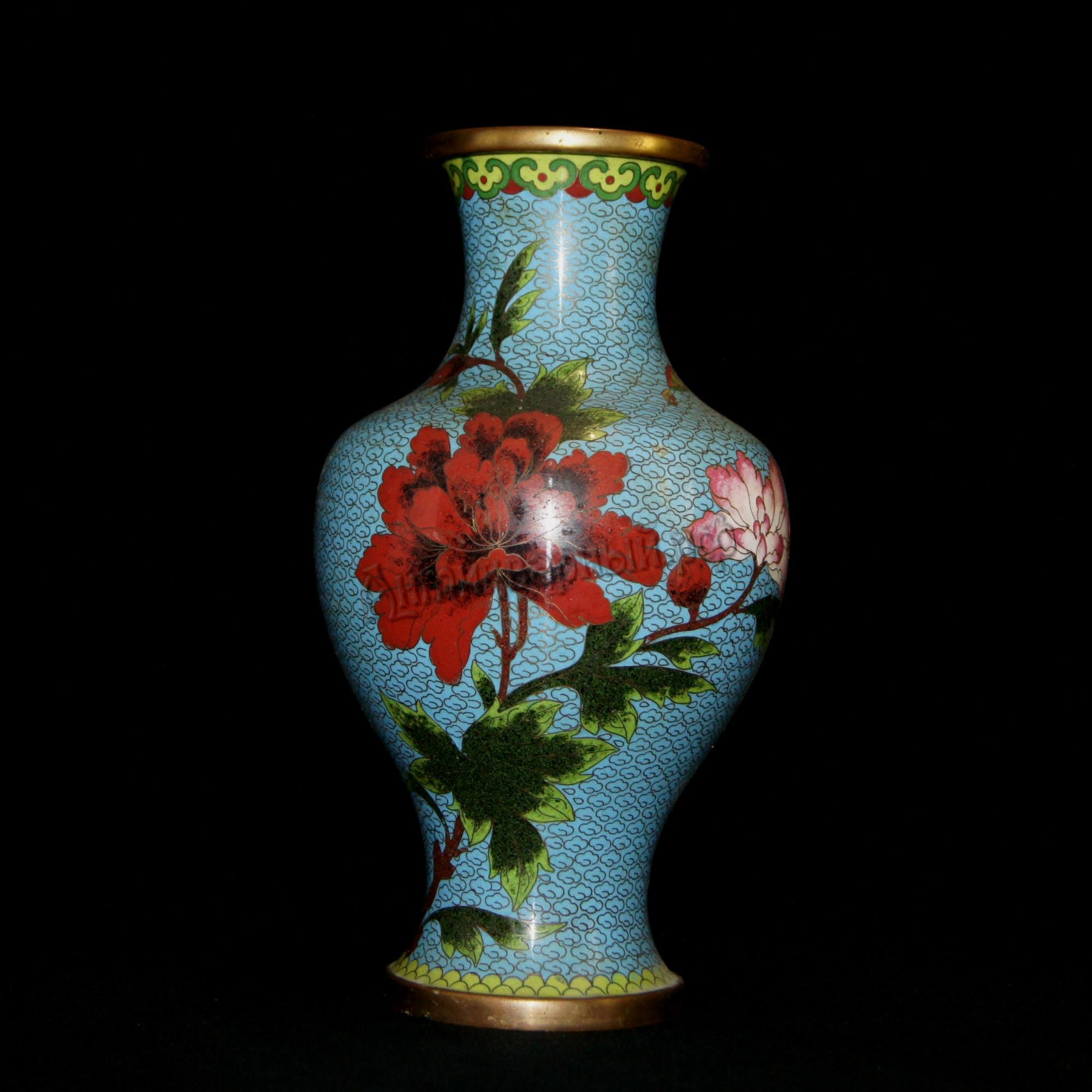 ваза. клуазоне