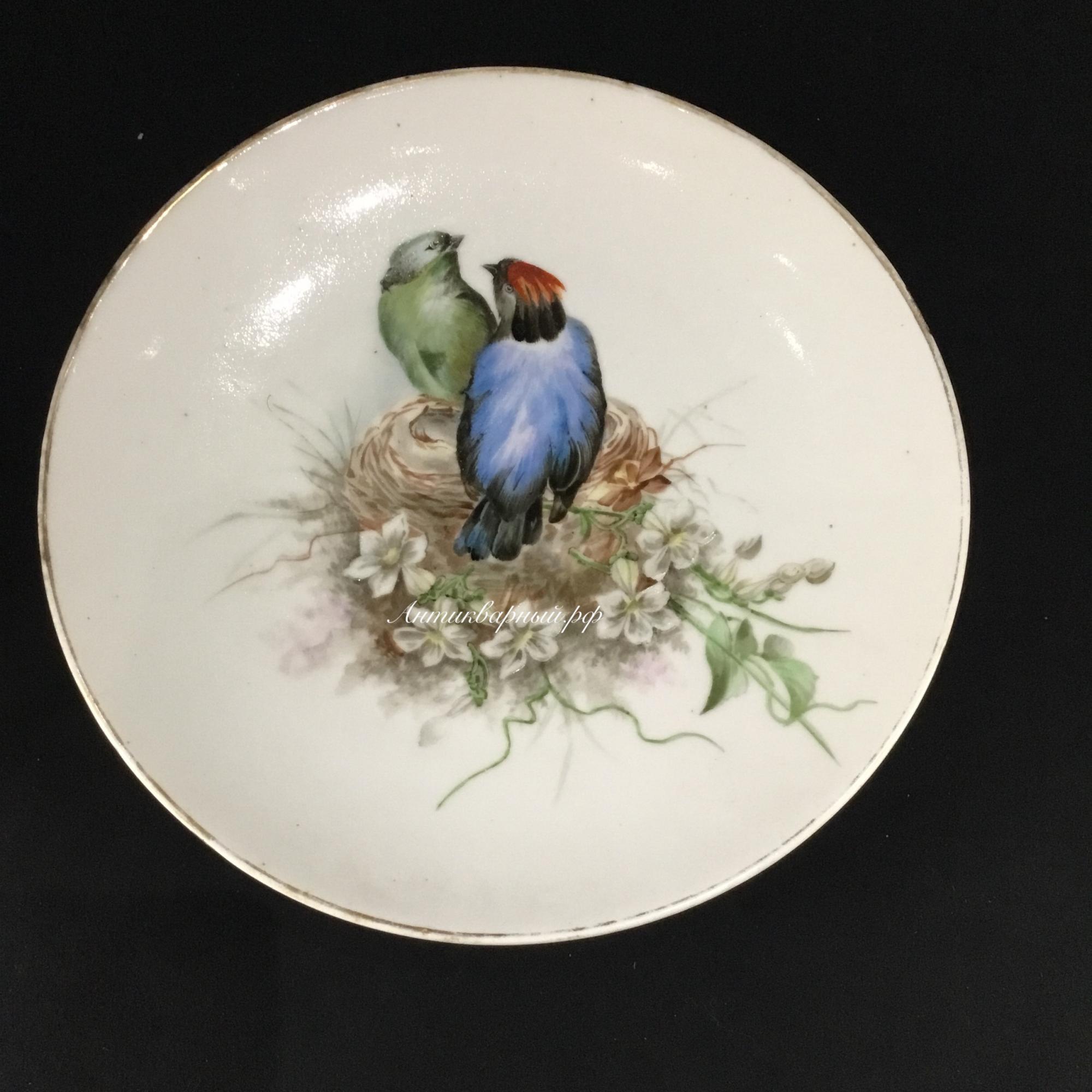 Декоративная настенная тарелка с птицами