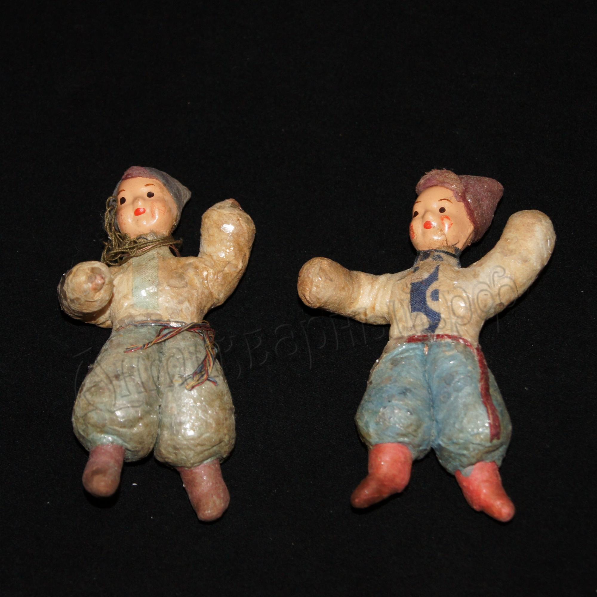 Старинные ватные елочные игрушки