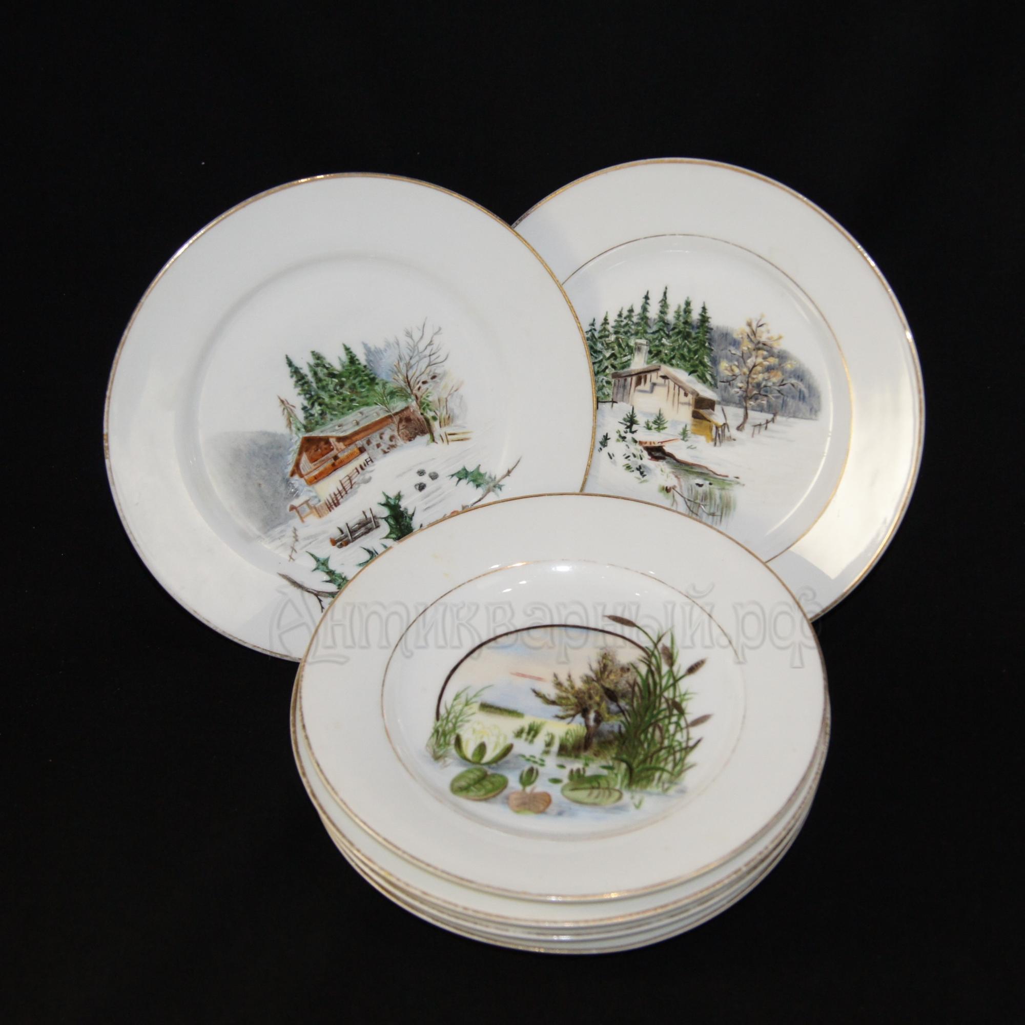 Комплект тарелок с росписью