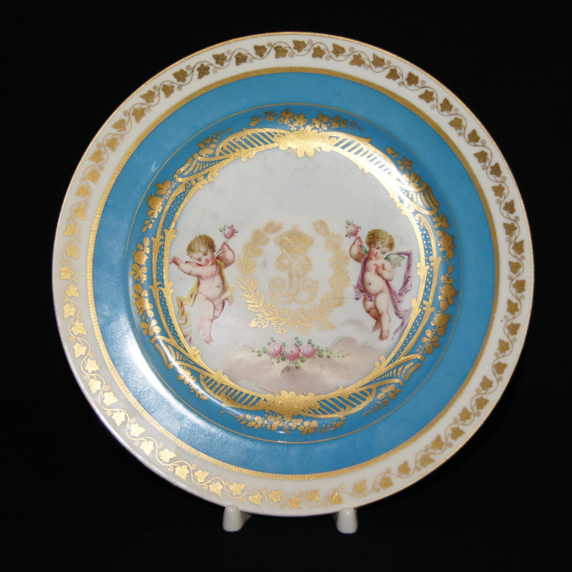 Антикварная тарелка 19 века