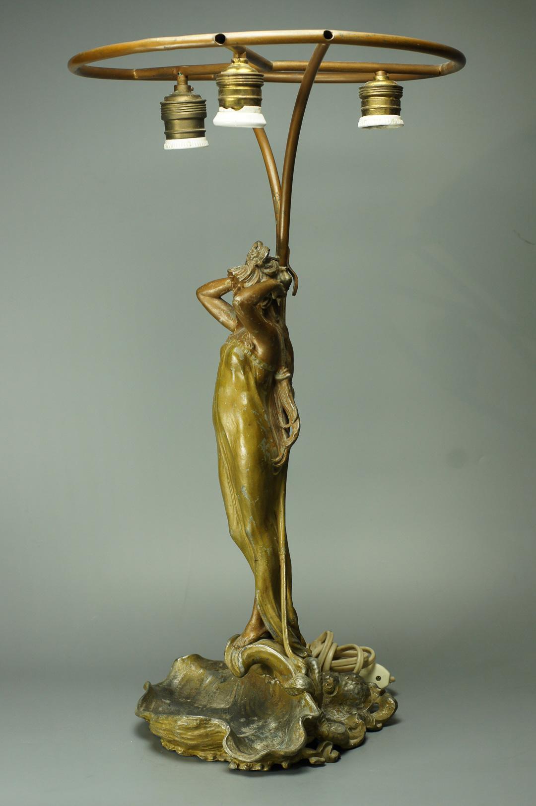 Настольная лампа без плафона ар нуво модерн