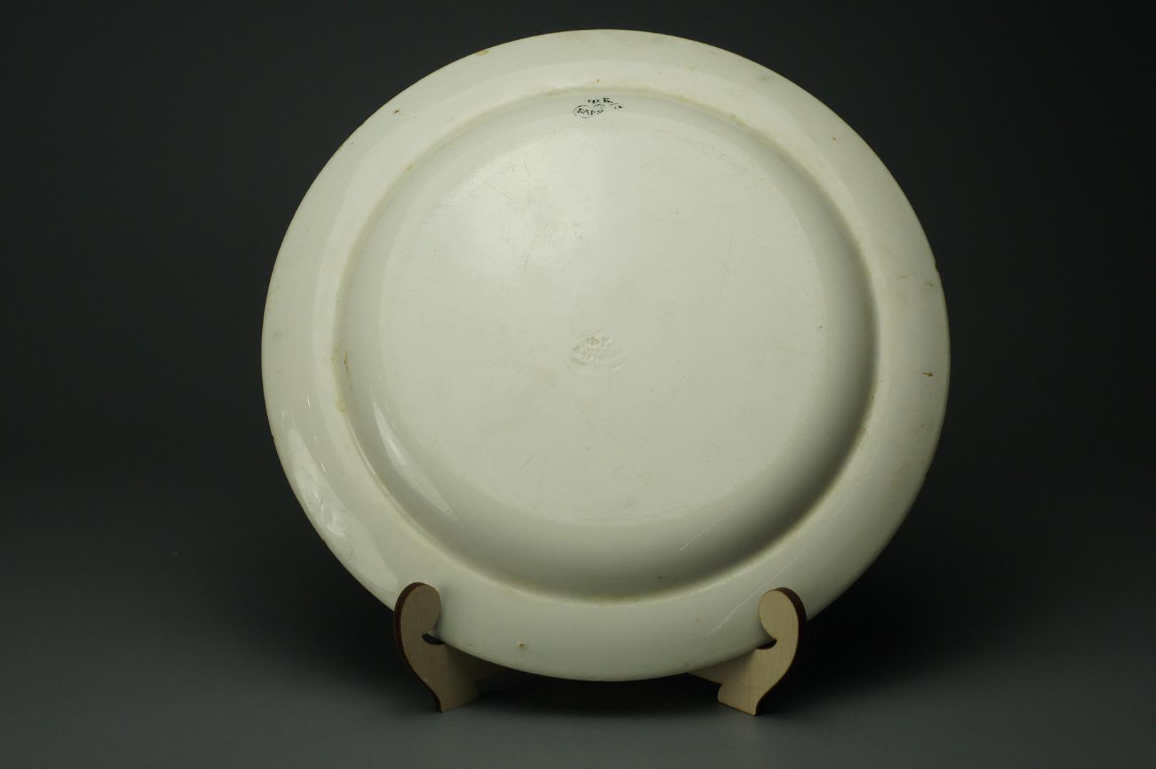 Тарелка черно-белая Бармина