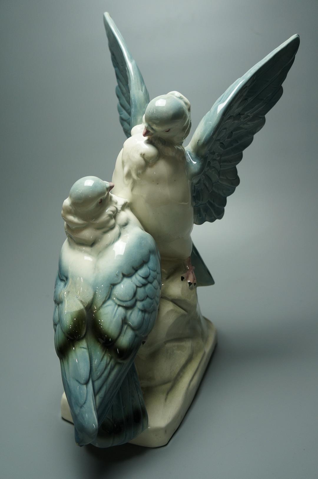 Статуэтка Голубь и голубка фарфор Германия