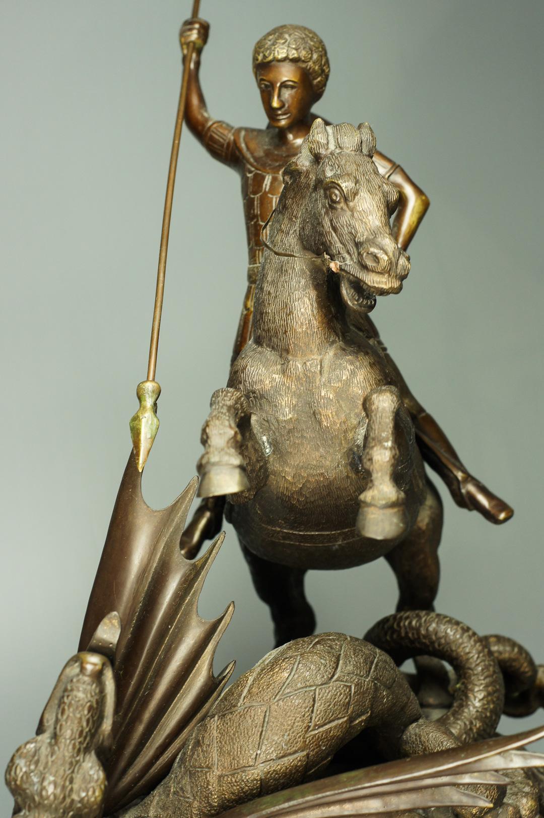 Скульптура Георгий Победоносец бронза Касли