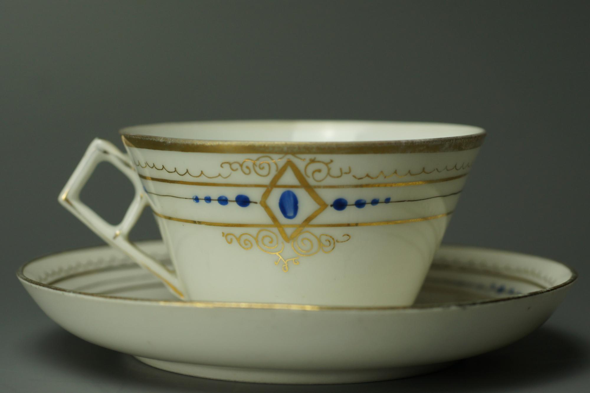 6 чайных пар фарфор Кузнецова