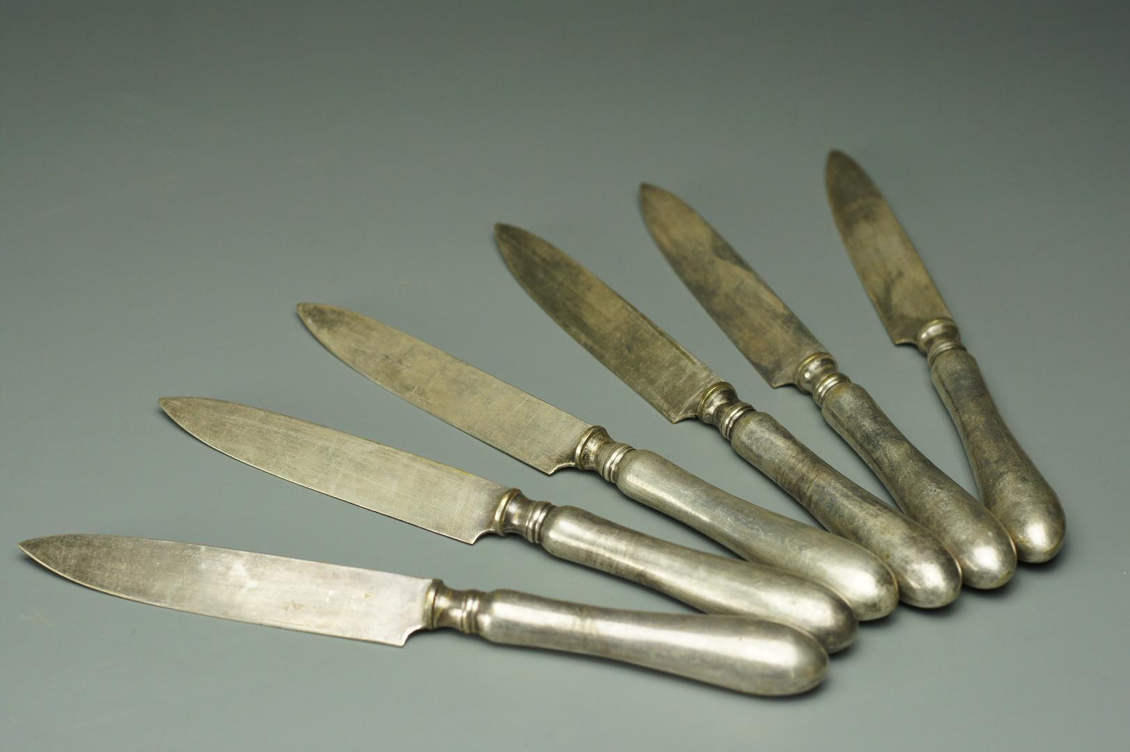 Ножи для фруктов мельхиор