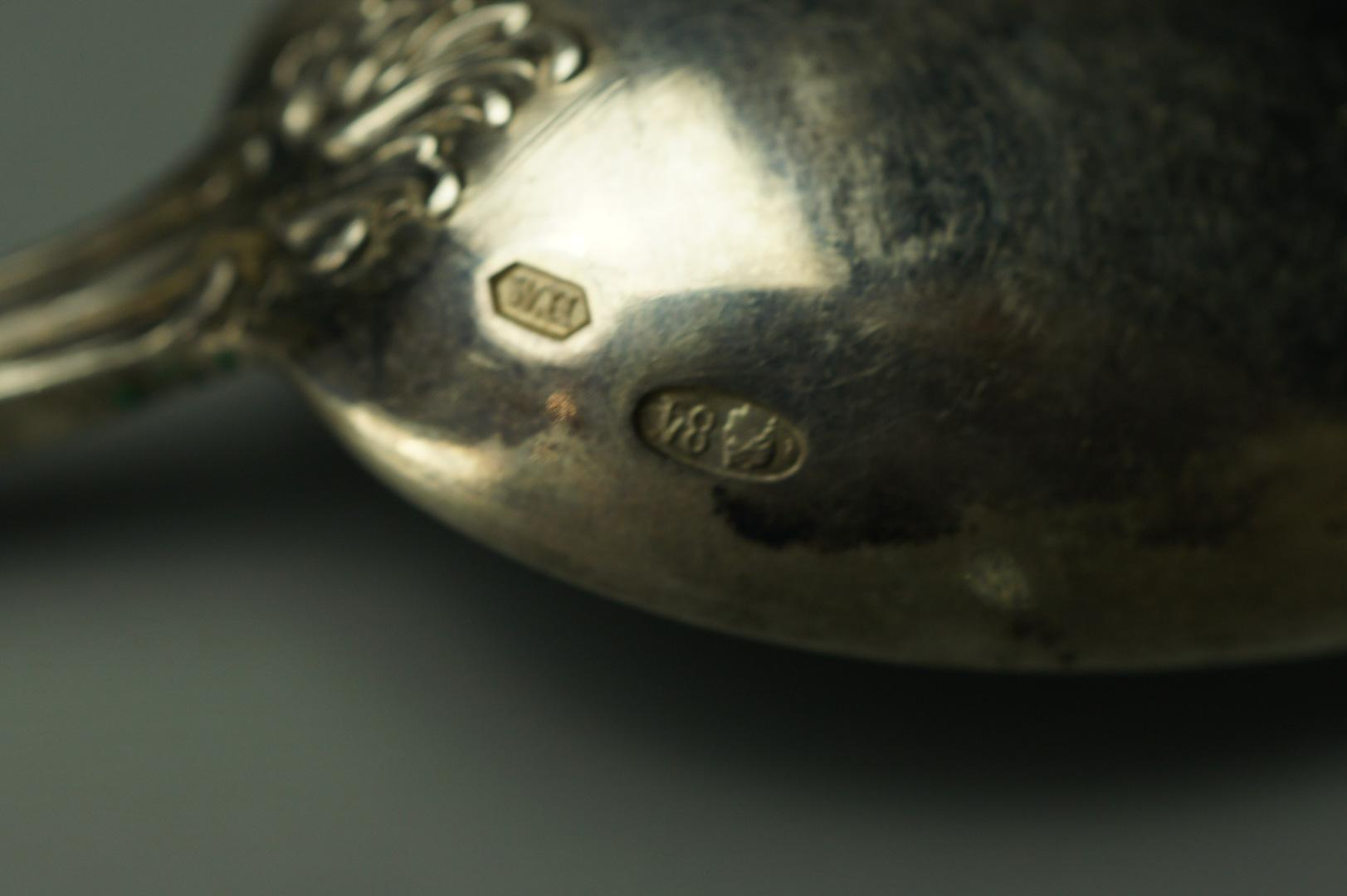 Набор из 6 серебряных ложек WH