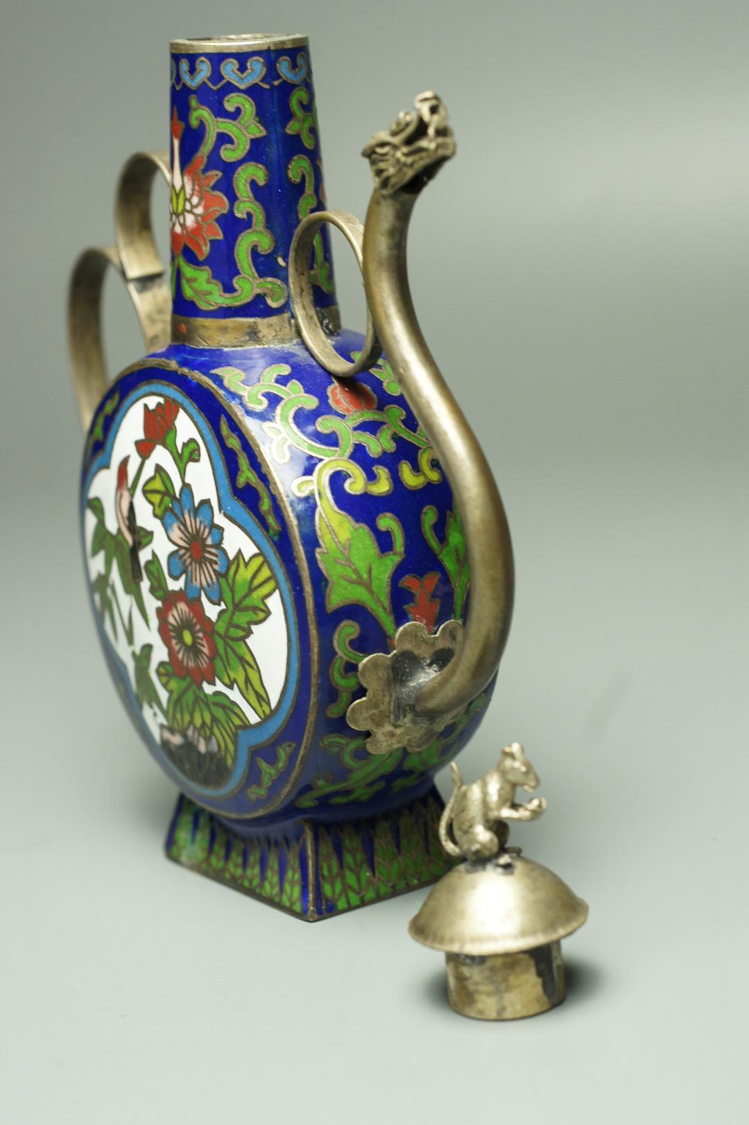 Чайник тибетский с драконом