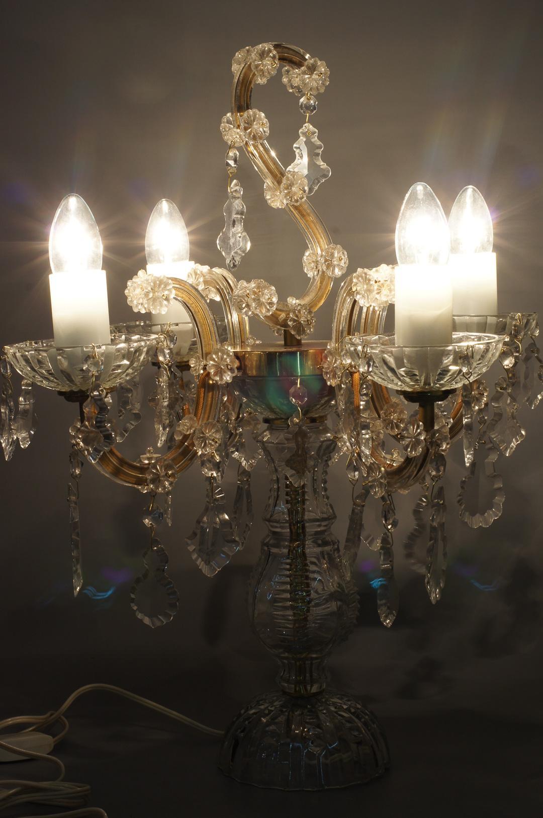 Пара светильников с хрустальными подвесами