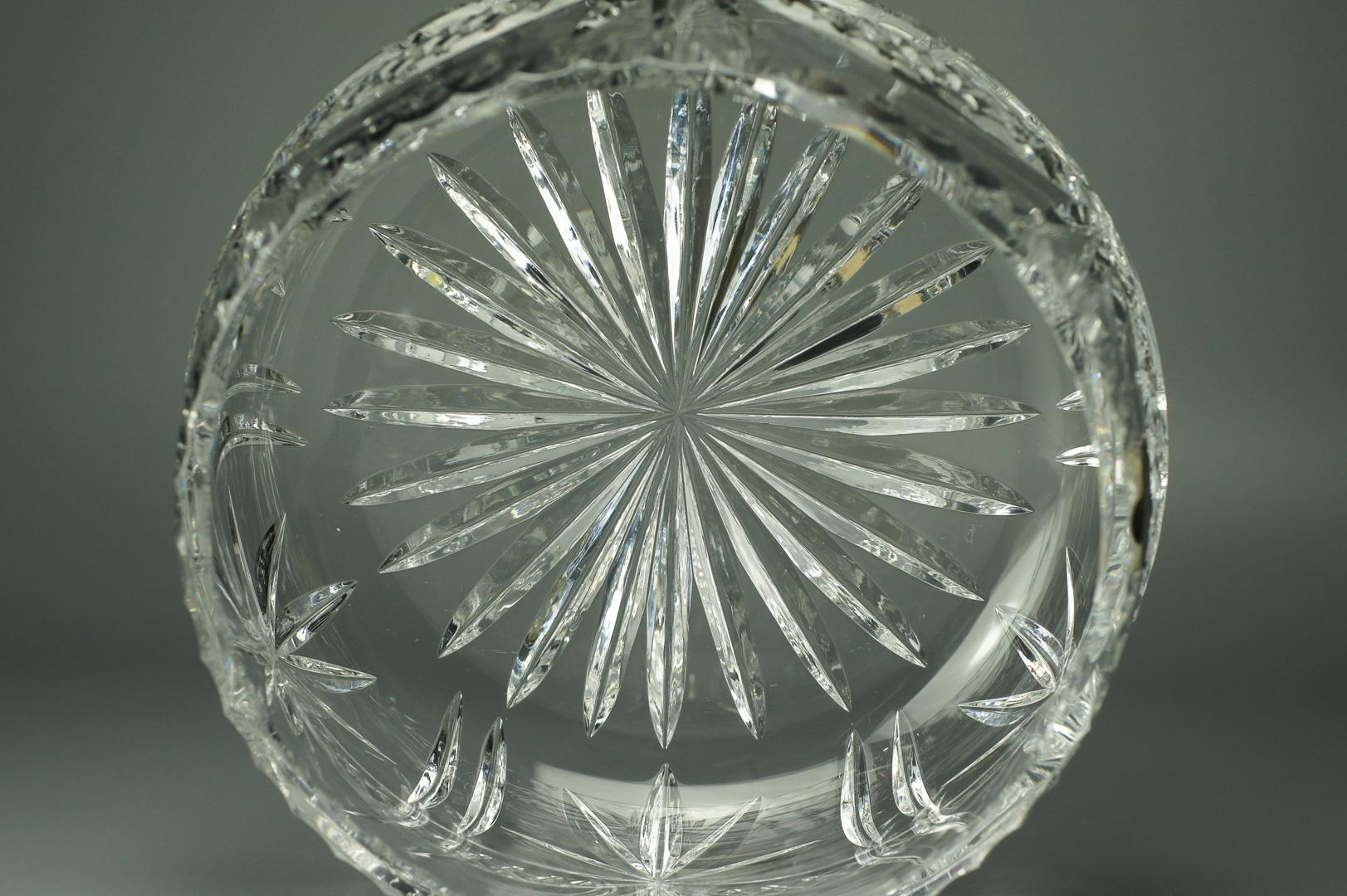 Ваза салатник круглая хрустальная