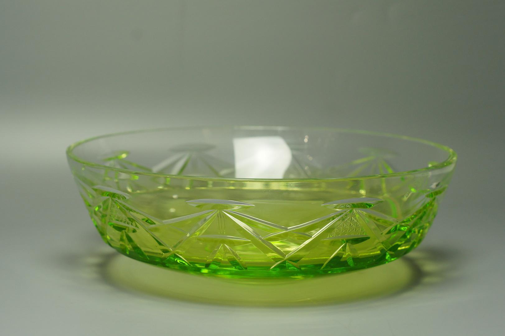 Фруктовница зеленый хрусталь