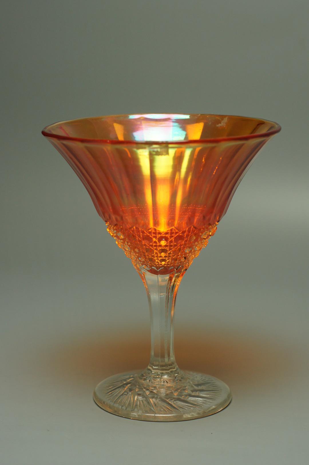 Бокал коктейльный оранжевый
