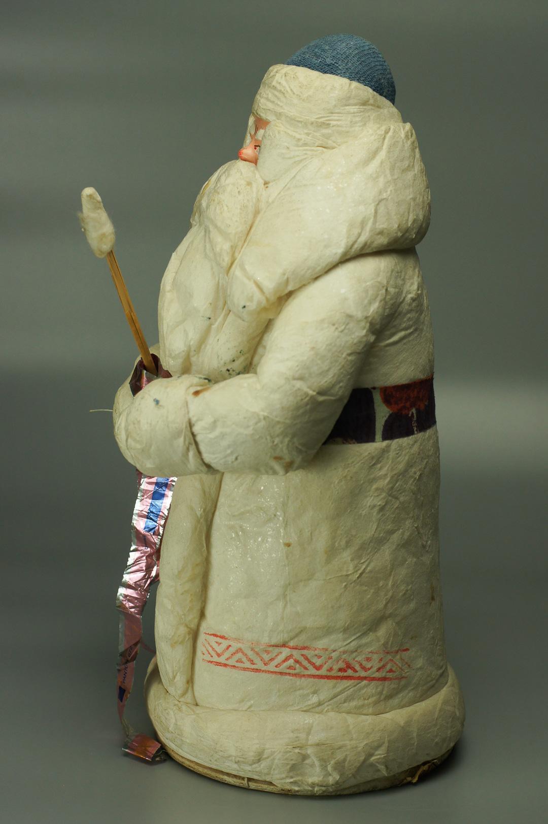 Дед Мороз ватный с посохом