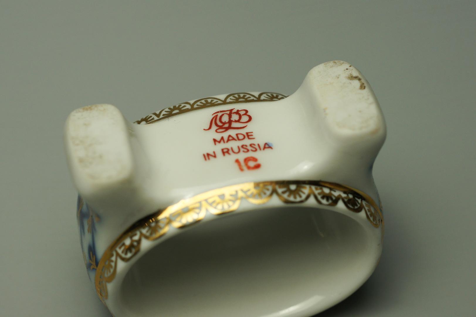 Кольца для салфеток кобальтовая сетка 6 штук