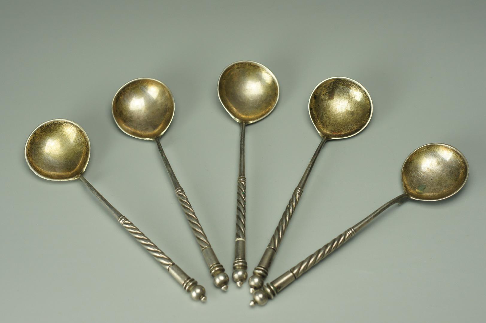 Ложки чайные серебро