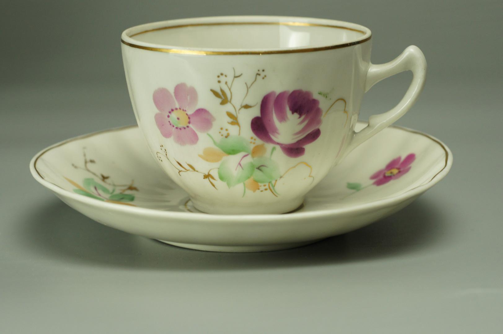 Чайная пара цветы Дулево