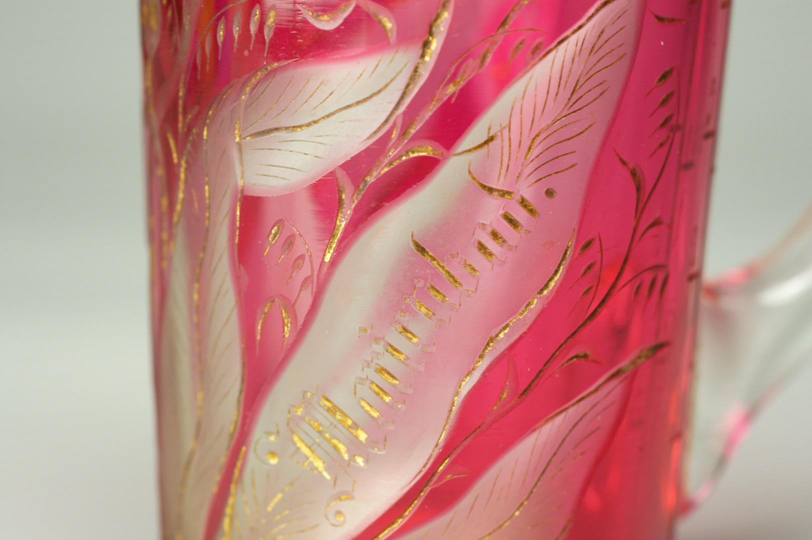 Кружка Тюльпаны богемское стекло