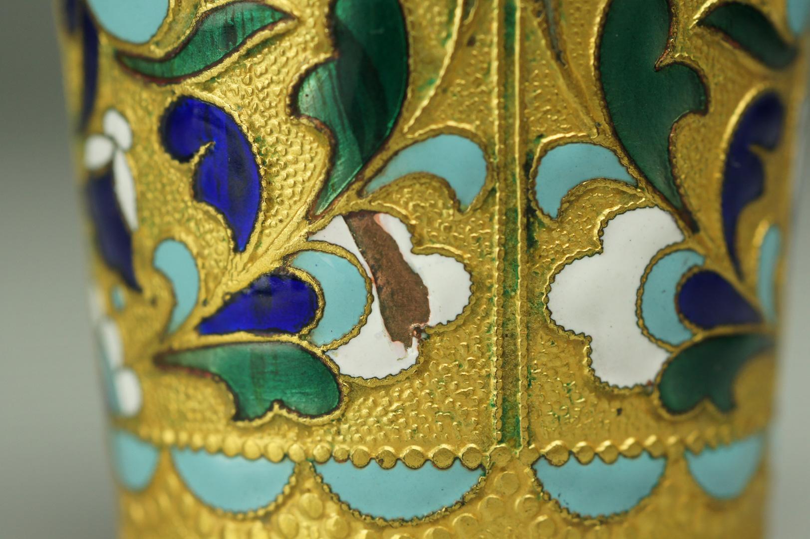 Стопка латунь цветная эмаль
