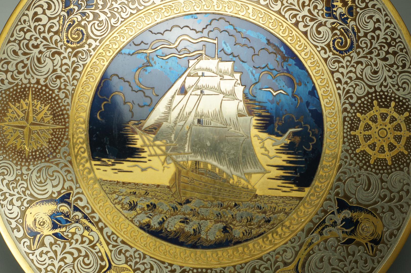 Парусник гравюра на стали златоуст