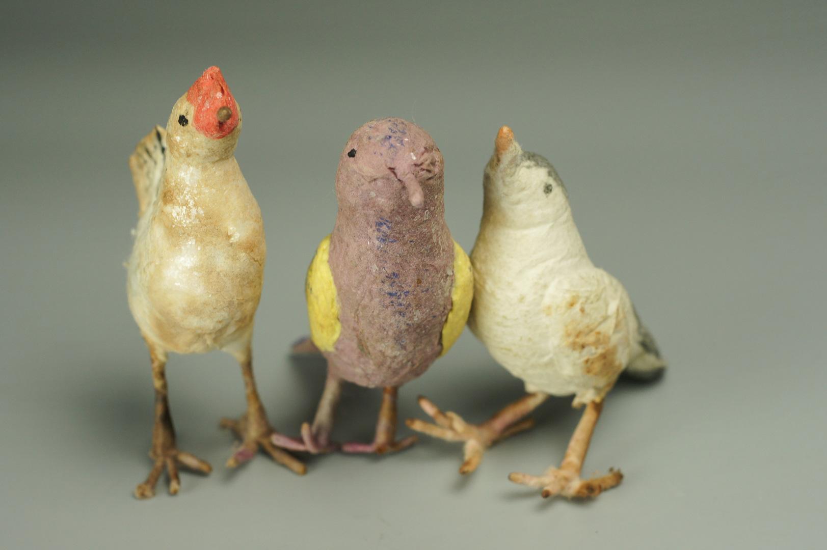 Игрушка елочная ватная птицы