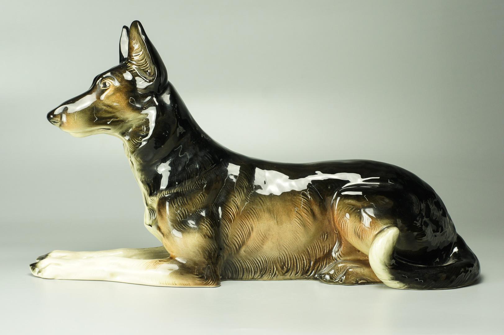 Статуэтка Немецкая овчарка большая фаянс