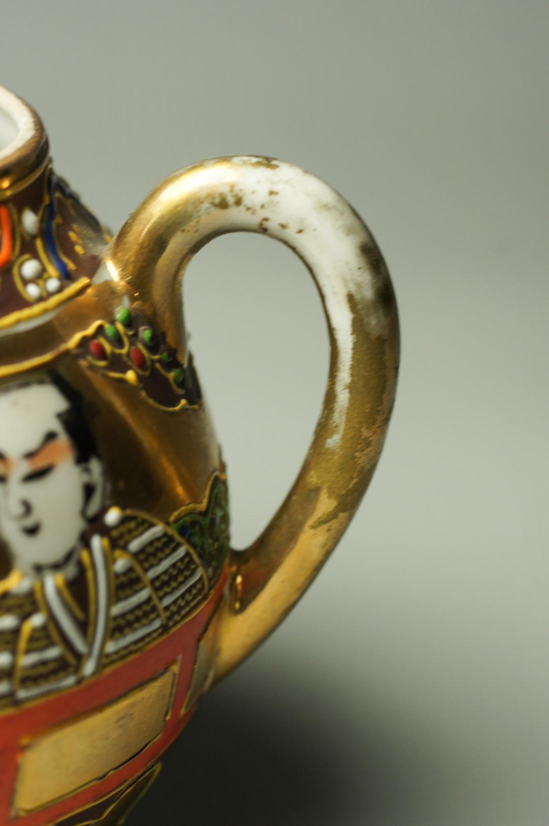 Кофейный набор кофейник сахарница Сацума Япония гейша